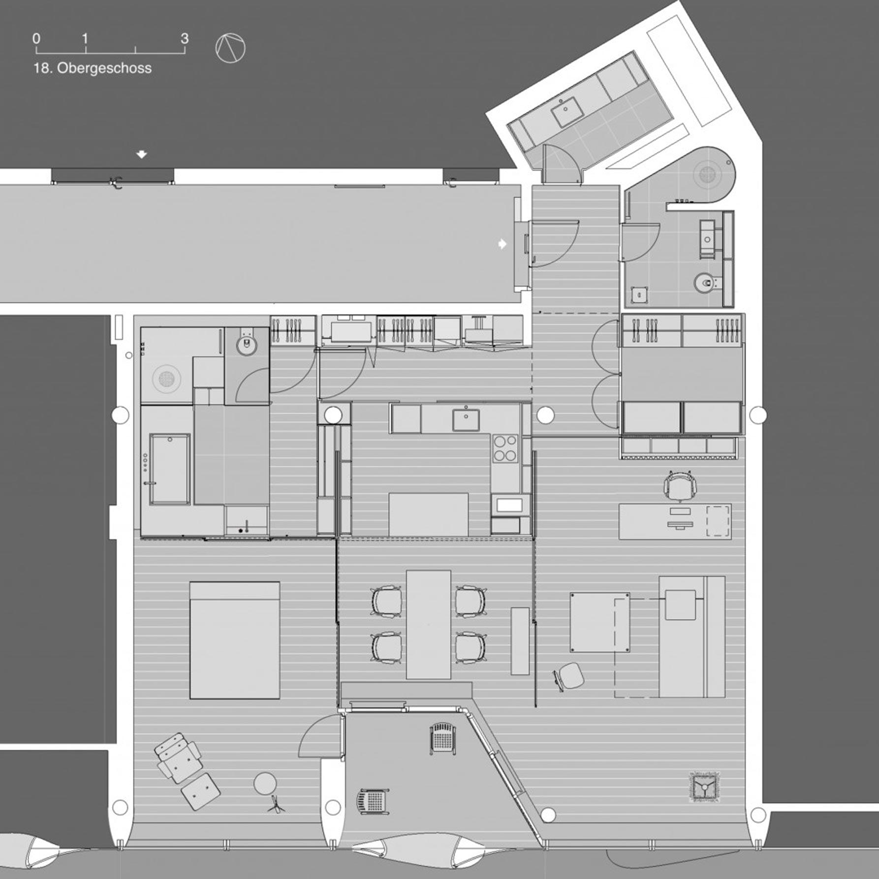 Grundriss Elphi-Loft